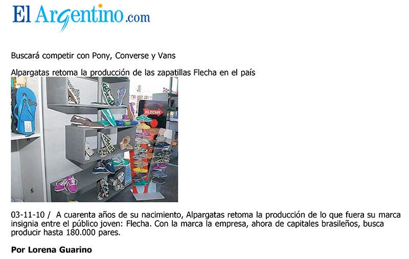 El Argentino , Alpargatas retoma la producción de las zapatillas Flecha en el país