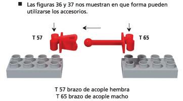 T57 Brazo de acople hembra