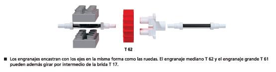 T62 Engranaje de - 25 (mediano)